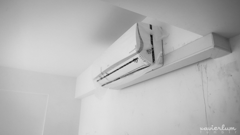 Cool it dude; Air Con Installation 1