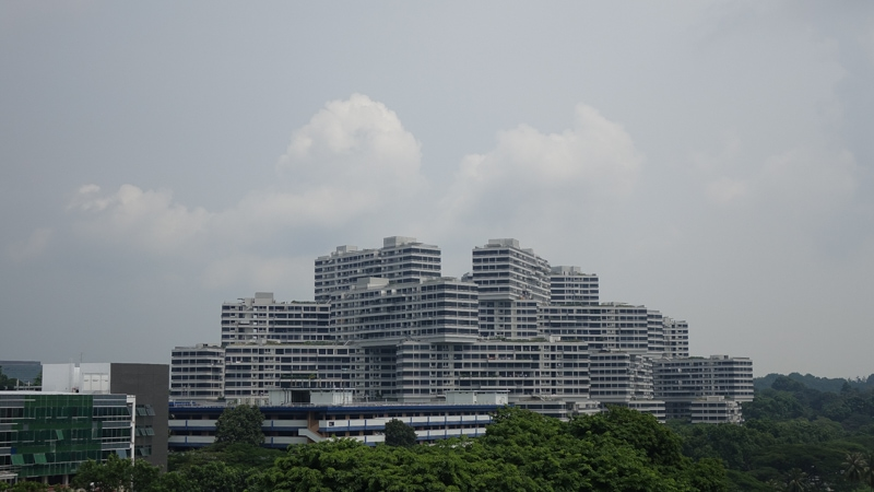 Picture of Interlace from my office balcony, 24mm zoom on a cloudy day