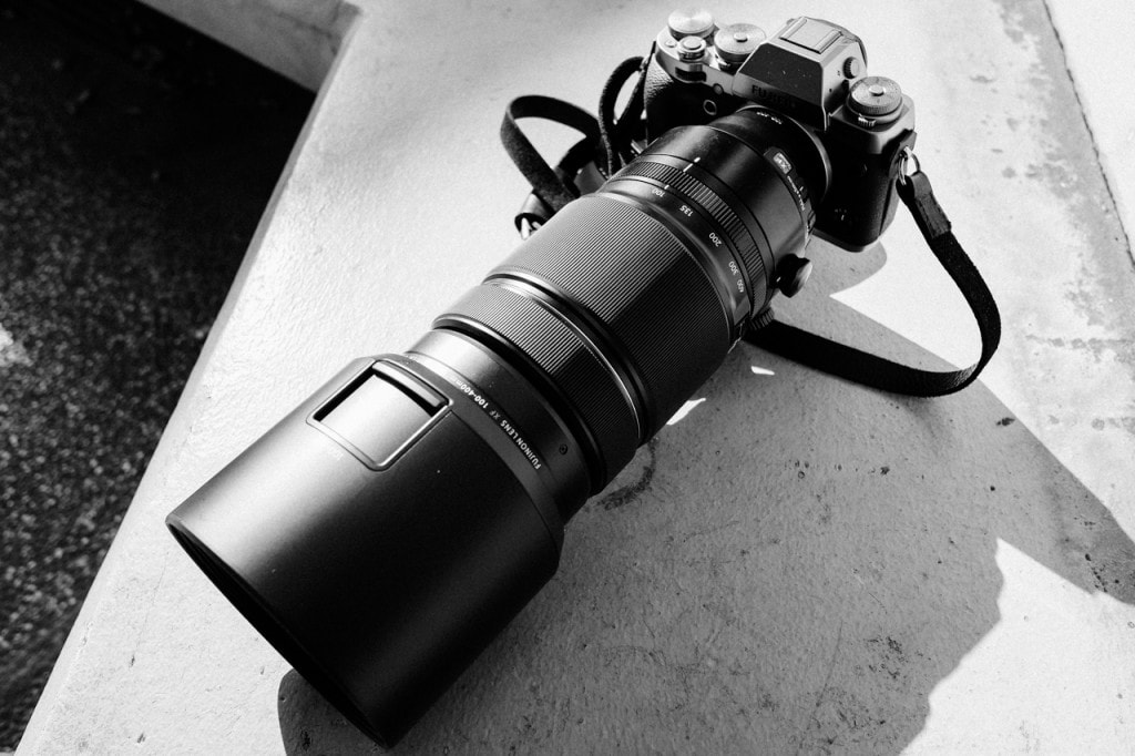 Fujifilm XF 100-400mm F4.5-F5.6R LM OIS WR top view
