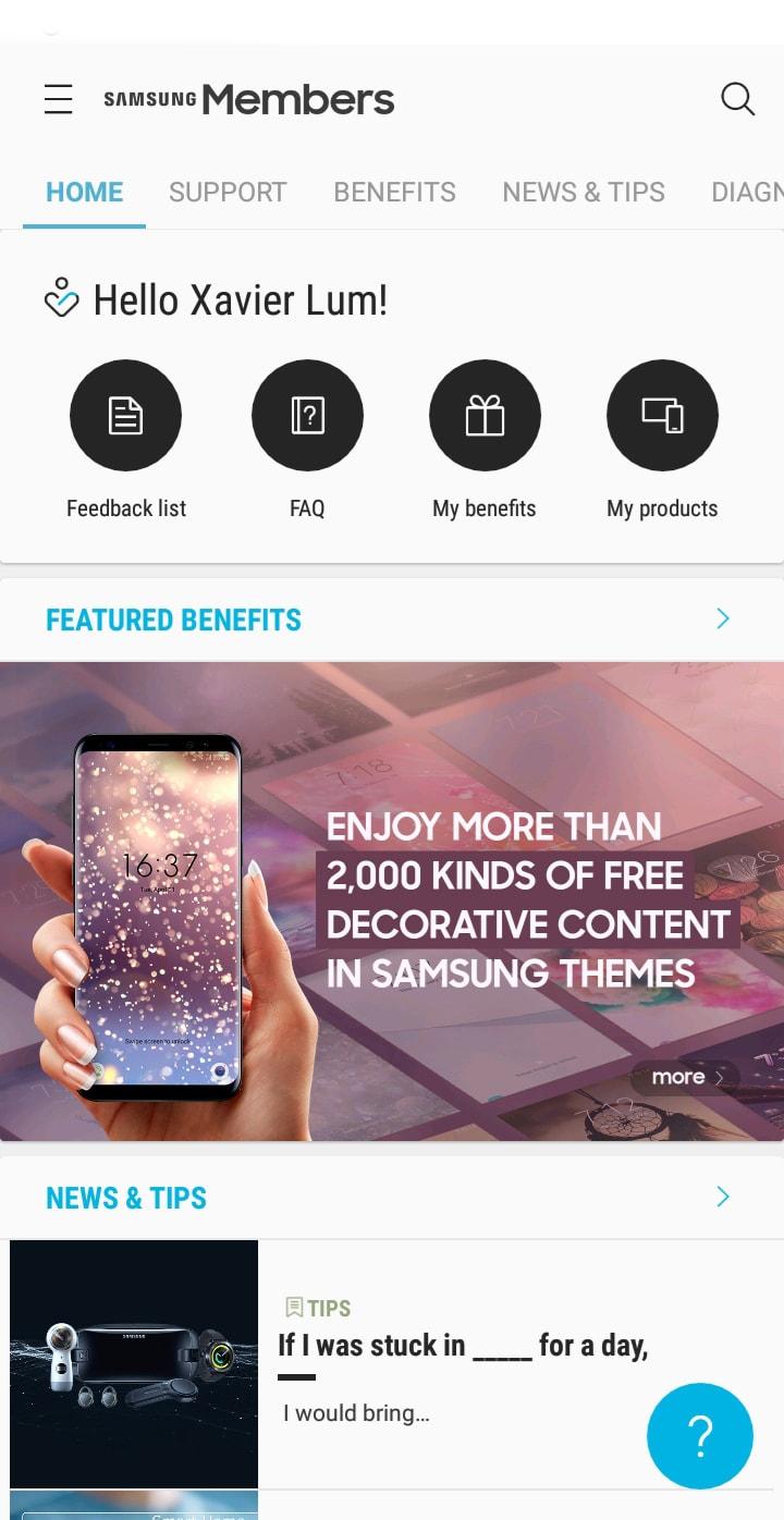 Samsung Members Apps 2