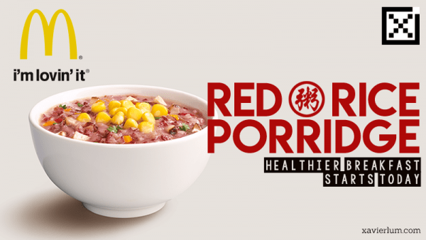 MacDonald's offers New Red Rice Porridge
