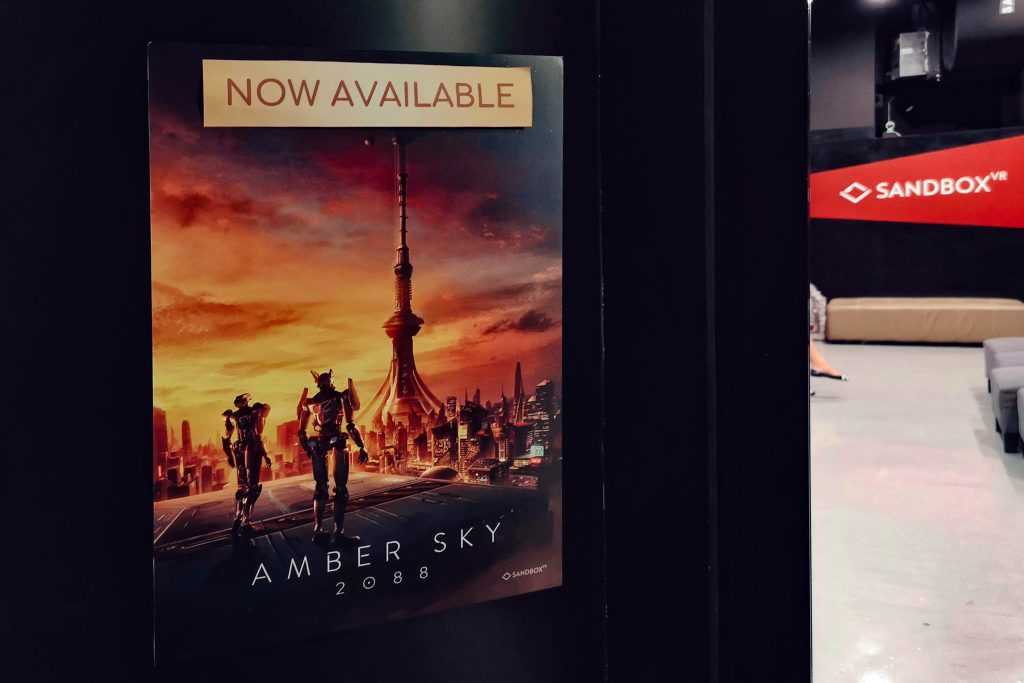 New Amber Sky 2088 released by Sandbox VR - Sandbox VR Singapore Review