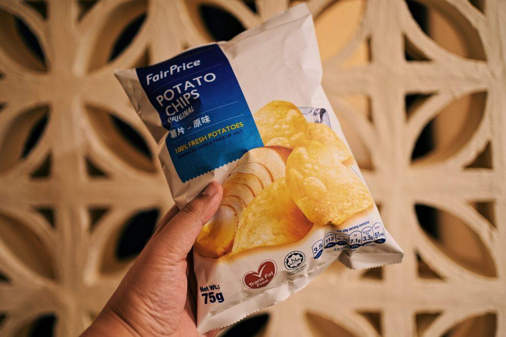 NTUC Potato Chips inside